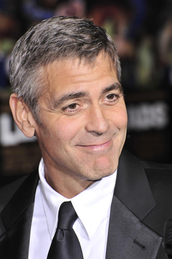 George Clooney royaltyfri bild