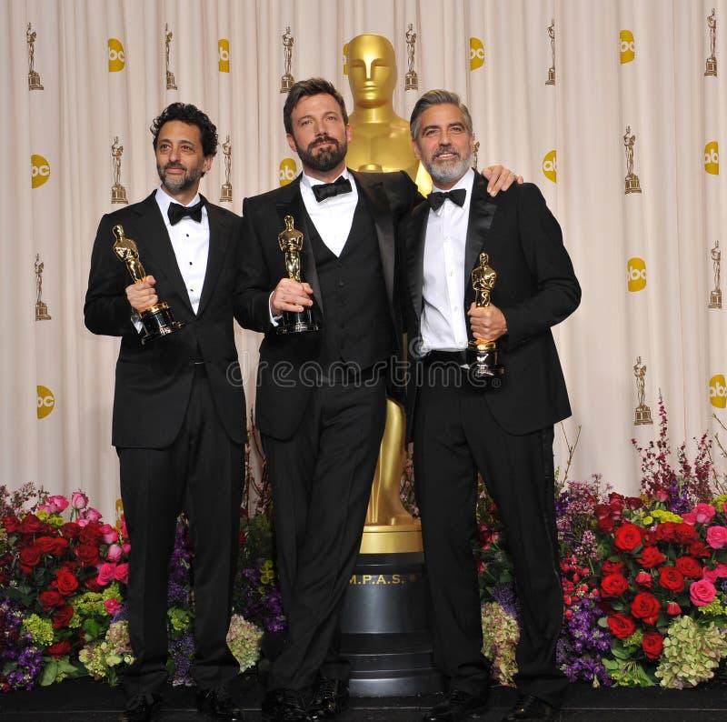 Ben Affleck, George Clooney royaltyfri fotografi