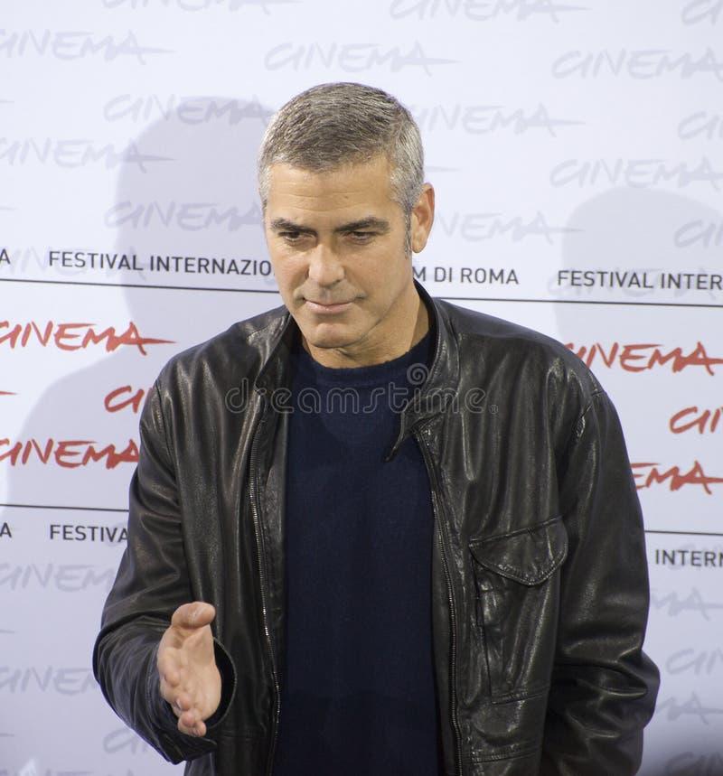 George Clooney, appel de photo images libres de droits