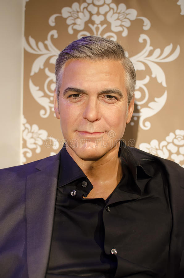 George clooney. In the famous wax museum Madame tussauds london, england stock photo