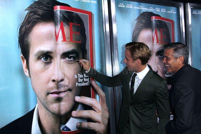 George Clooney, Gansje Ryan royalty-vrije stock afbeeldingen