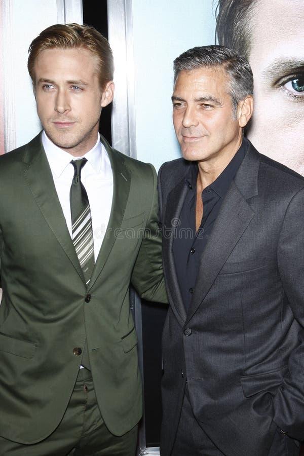 George Clooney, Ryan Gosling fotos de archivo