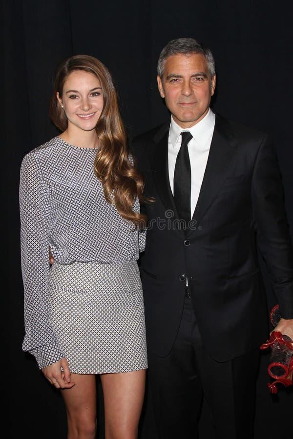 George Clooney, Shailene Woodley fotografía de archivo libre de regalías