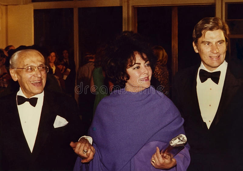 George Cukor, Elizabeth Taylor i John Warner, obrazy royalty free