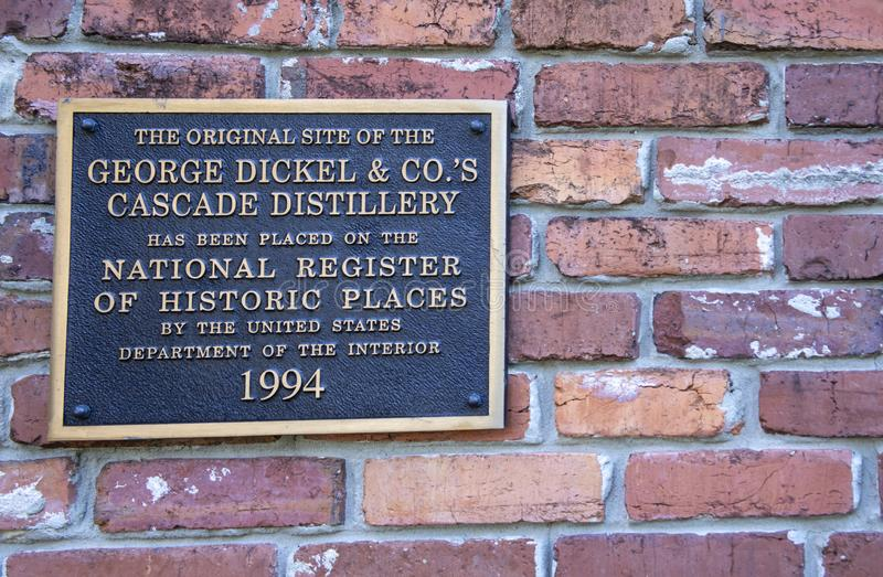 George Dickel Distilling Company National Register of Historical Places photos stock