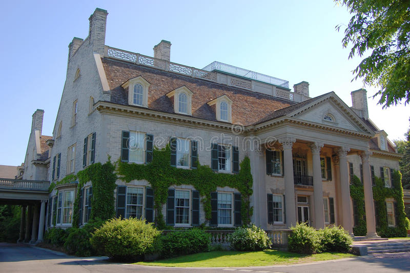 George Eastman House, Rochester. George Eastman House in Rochester, New York State, USA stock photo