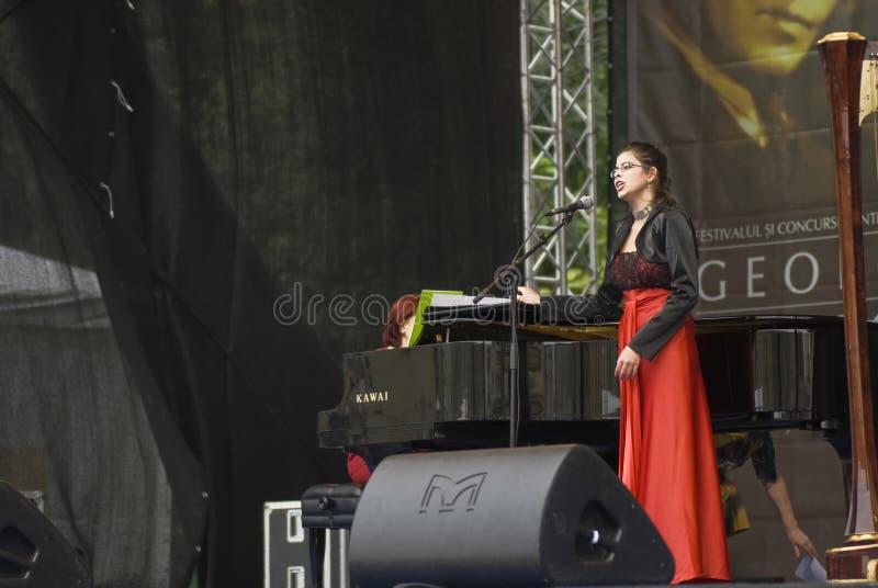 George Enescu International Festival. Edition 2009 Cristina Negoescu - canto stock photography