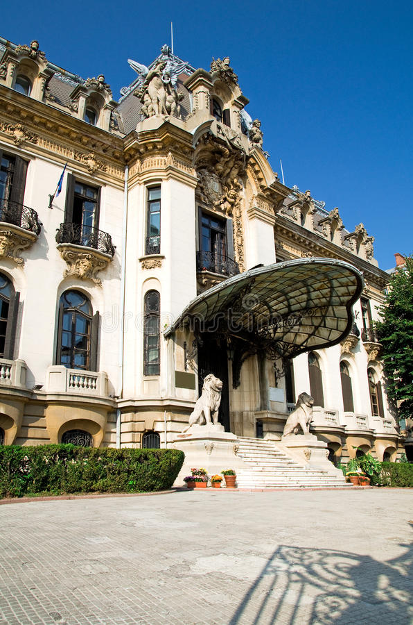 "George Enescu Museum - Bucharest. Named after the great romanian composer and violonist, the ""George Enescu"" National Museum is hosted inside stock image"