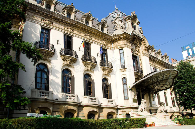 "George Enescu Museum - Bucharest. Named after the great romanian composer and violonist, the ""George Enescu"" National Museum is hosted inside royalty free stock photo"