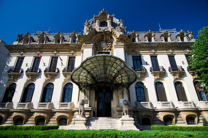 "George Enescu Museum - Bucharest. Named after the great romanian composer and violonist, the ""George Enescu"" National Museum is hosted inside stock images"