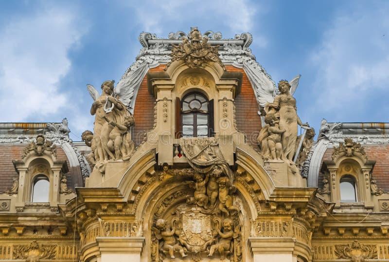 George Enescu museum i Bucharest, Rumänien royaltyfri foto
