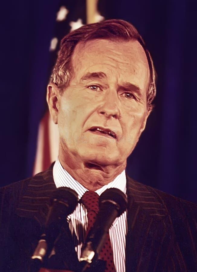 George H W Bush arkivfoton