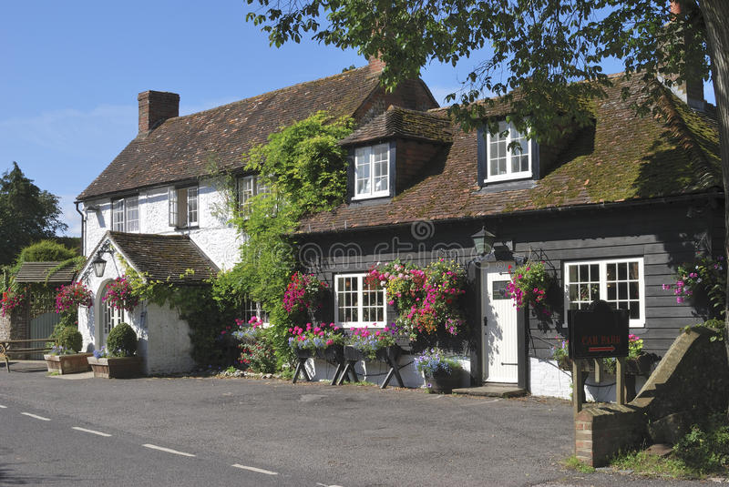 The George Inn at Eartham. UK royalty free stock images