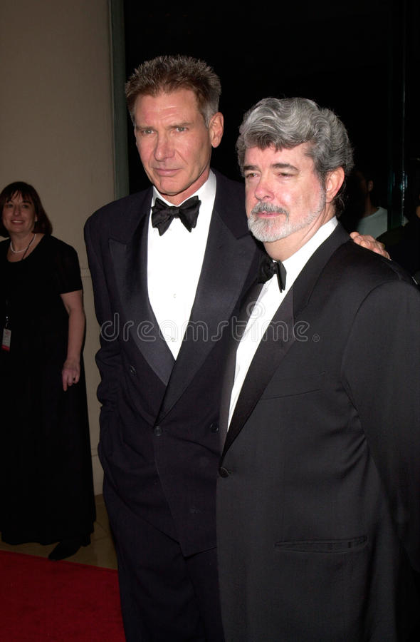 George Lucas, Harrison Ford images stock