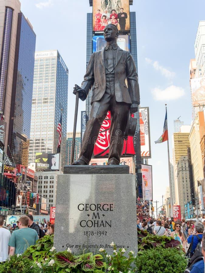 George M Cohan Statue ajustent parfois à New York City image libre de droits