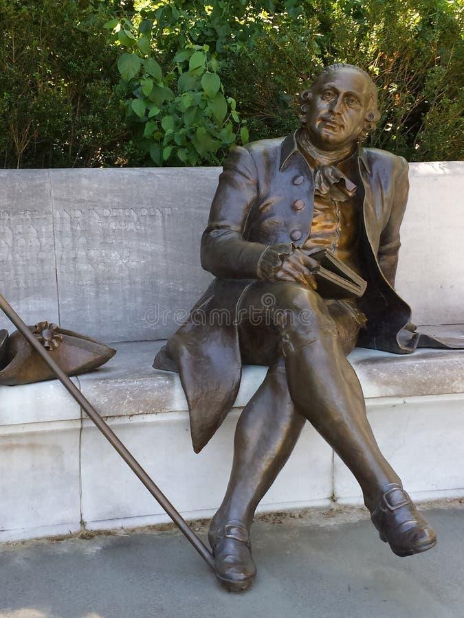 George Mason Statue in Washington, D C stockfotos