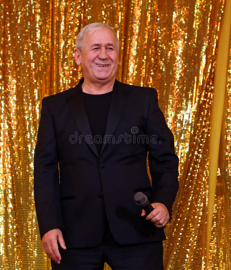 George Mihaita. Romanian actor George Mihaita is acting in a play at Constantin Tanase Theater, in Bucharest, Romania, Saturday, 20 December 2015. The show is a royalty free stock images