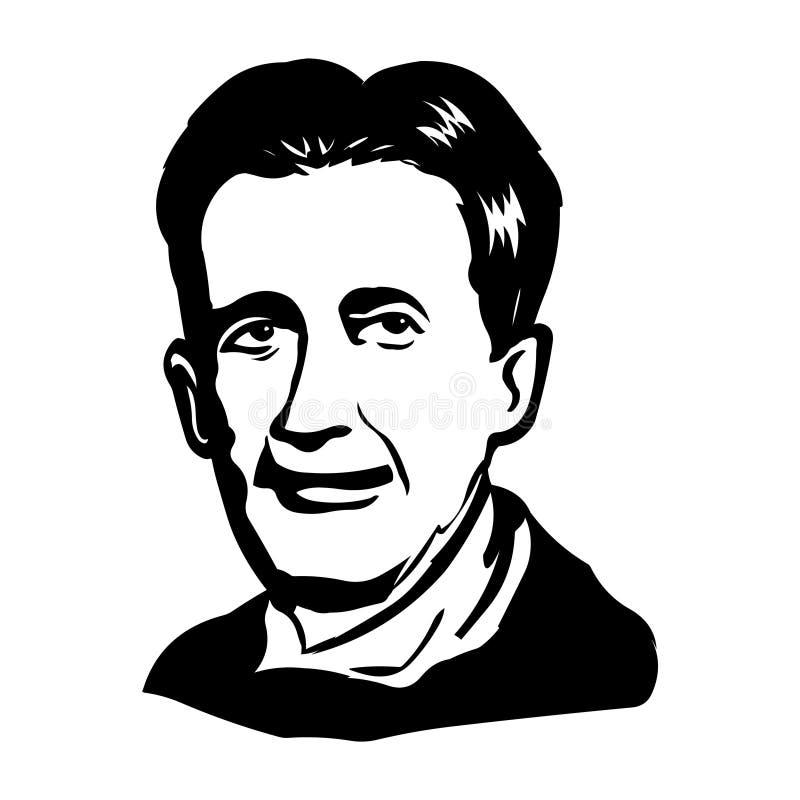 George Orwell Retrato del vector de George Orwell stock de ilustración