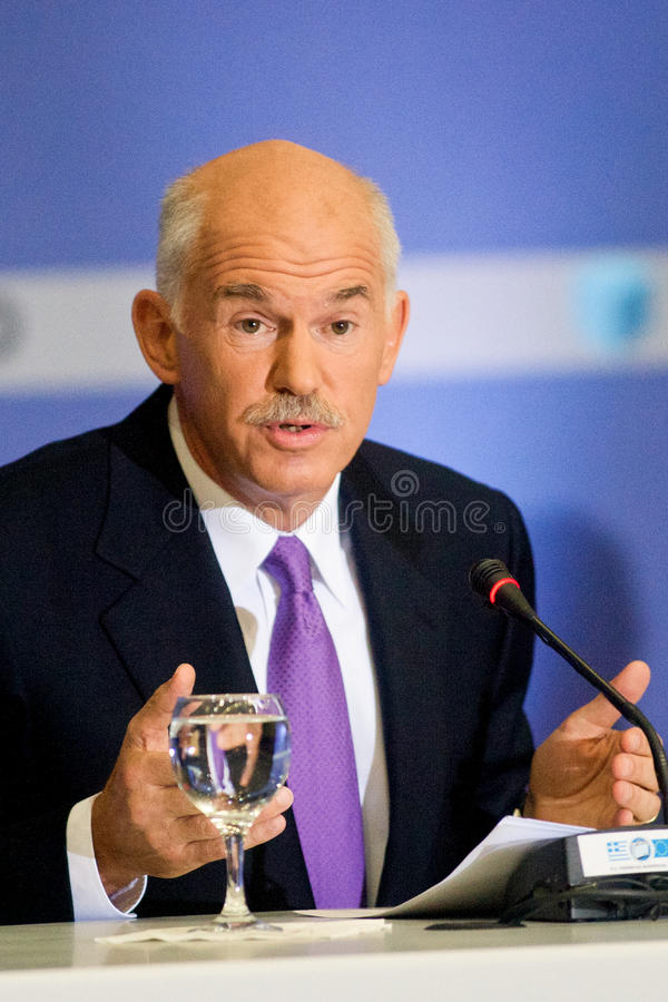 George Papandreou Editorial Image