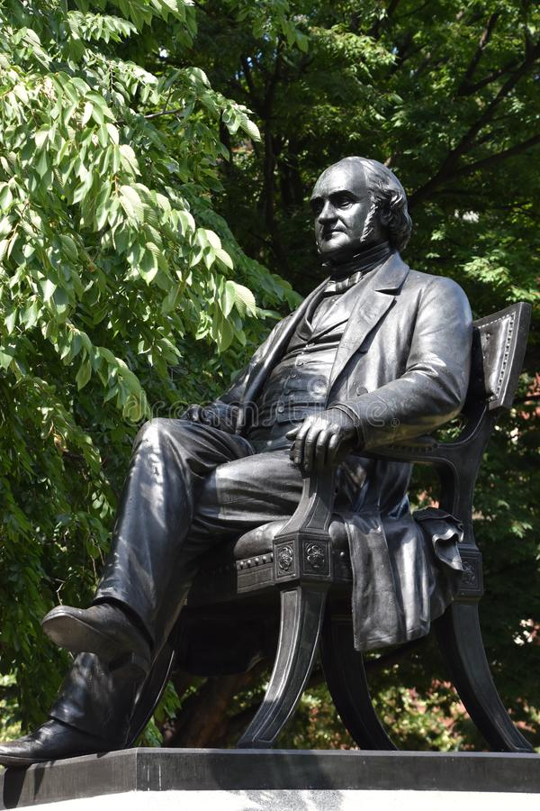 George Peabody statue in Baltimore, Maryland. USA royalty free stock image