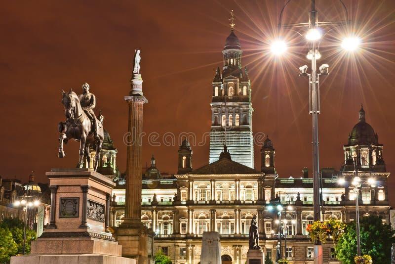 George-Quadrat, Glasgow lizenzfreie stockfotografie