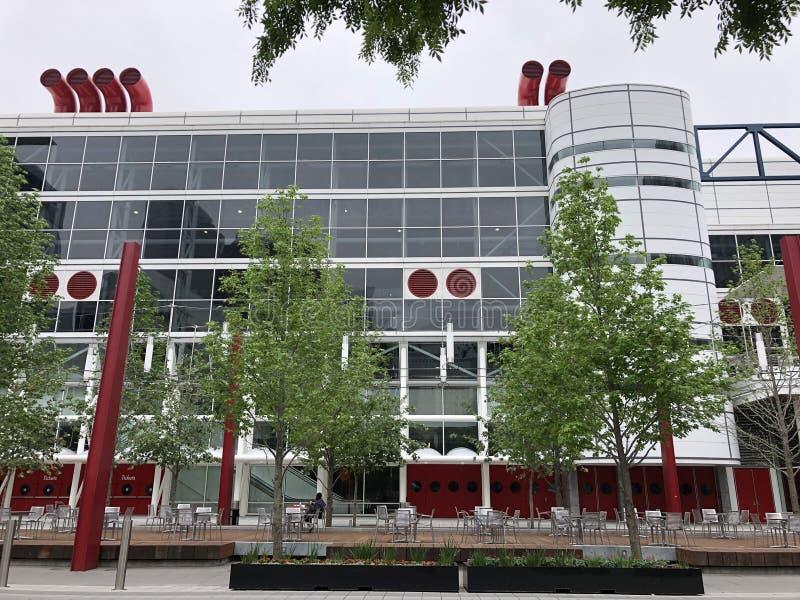 George R Brown Convention Center, Houston. George R Brown Convention Center at Discover Green, downtown Houston stock photo