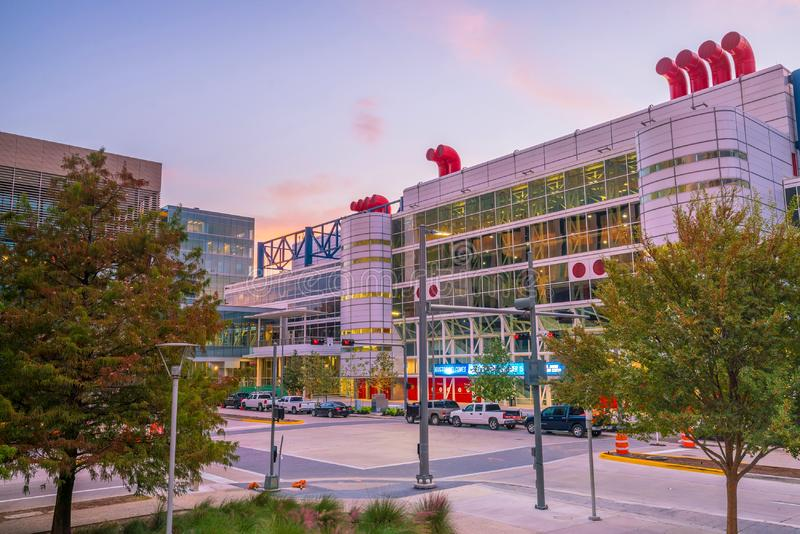 The George R. Brown Convention Center. Houston, TX USA - NOV 11 : The George R. Brown Convention Center in the downtown Houston Texas USA on November 17, 2016 It royalty free stock photo