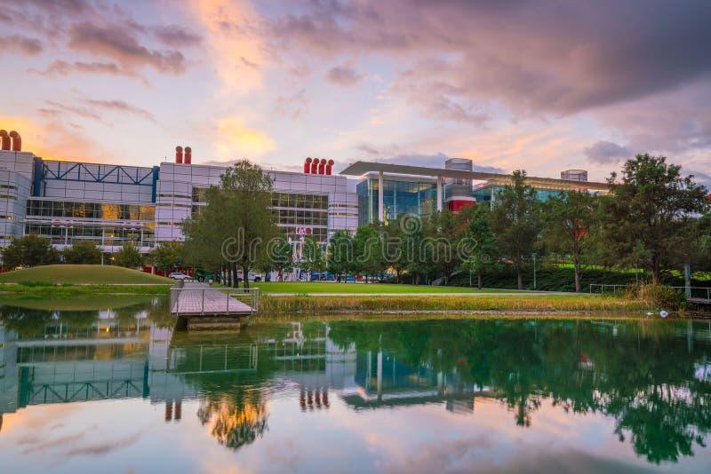 The George R. Brown Convention Center. Houston, TX USA - NOV 11 : The George R. Brown Convention Center in the downtown Houston Texas USA on November 17, 2016 It stock photos