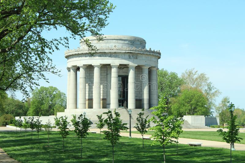 George Rogers Clark Memorial In Vincennes, IN. The George Rogers Clark Memorial in Vincennes, Indiana along Wabash River royalty free stock photo