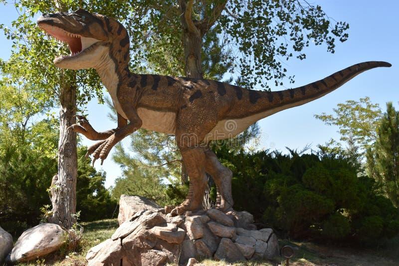 George S Parque do dinossauro de Eccles em Ogden, Utá fotografia de stock royalty free