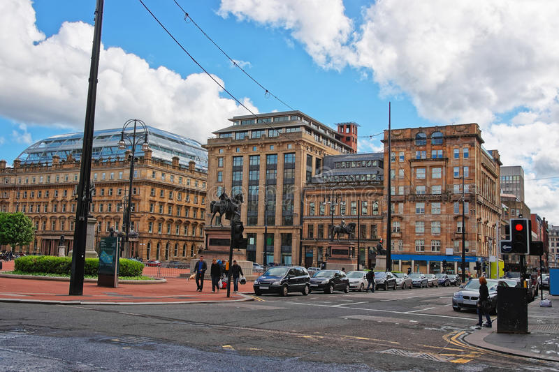 George Square in the city center in Glasgow stock photos