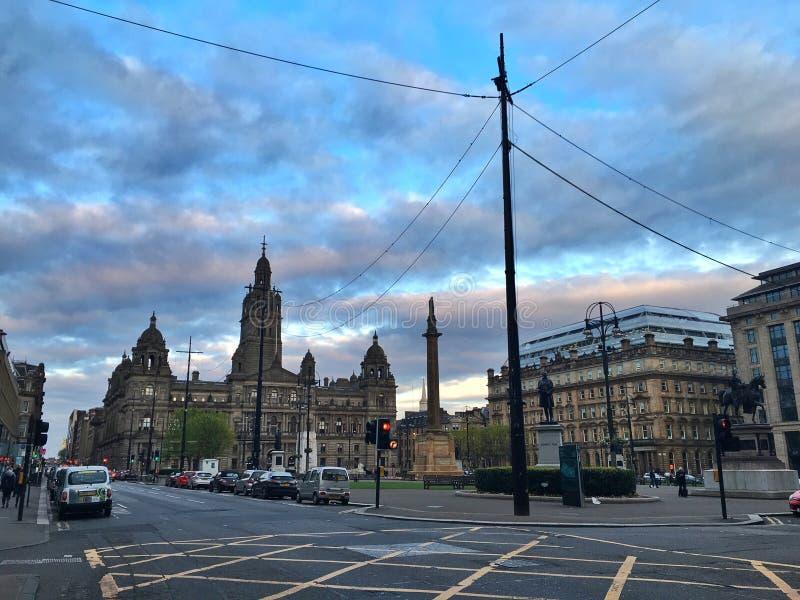 George Square de Glasgow, Ecosse image libre de droits