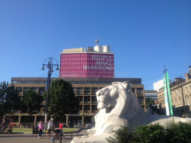 George Square em Glasgow fotos de stock