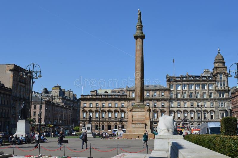 George Square, Glasgow, Escocia en un día de primavera soleado imagen de archivo libre de regalías