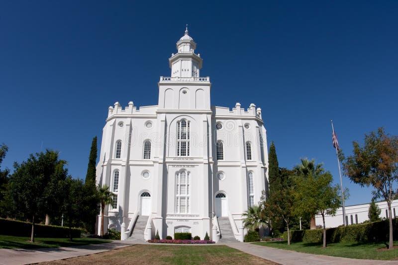 george st świątynia Utah obraz royalty free