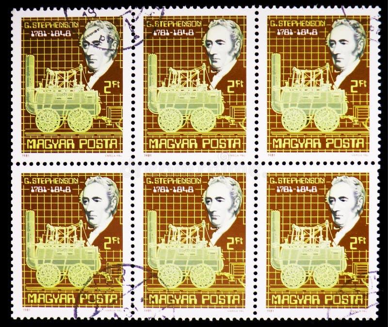 George Stephenson, serie das personalidades, cerca de 1981 foto de stock royalty free