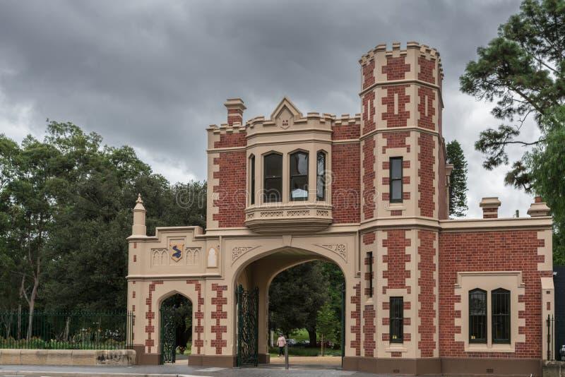 George Street Gatehouse entrance to Domain, Parramatta Australia stock photography