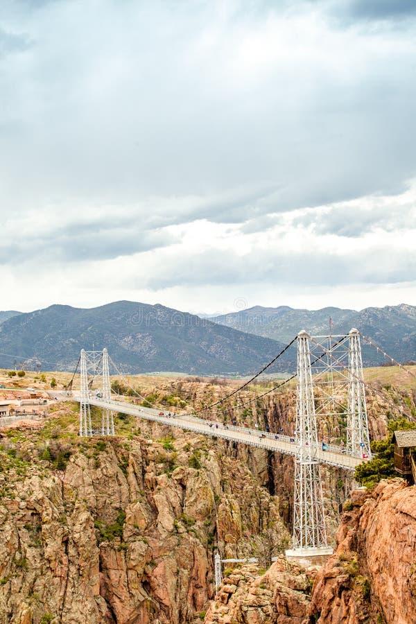 George Suspension Bridge real, Colorado, los E.E.U.U. fotografía de archivo libre de regalías