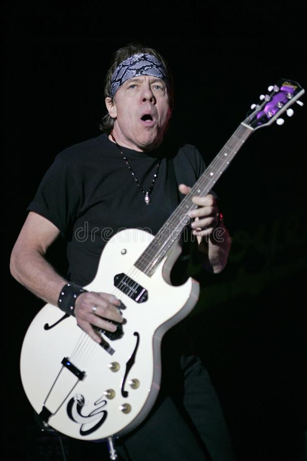 George Thorogood and the Destroyers perform. In concert at the Pompano Beach Amphitheatre in Pompano Beach, Florida on March 21, 2008 royalty free stock photography