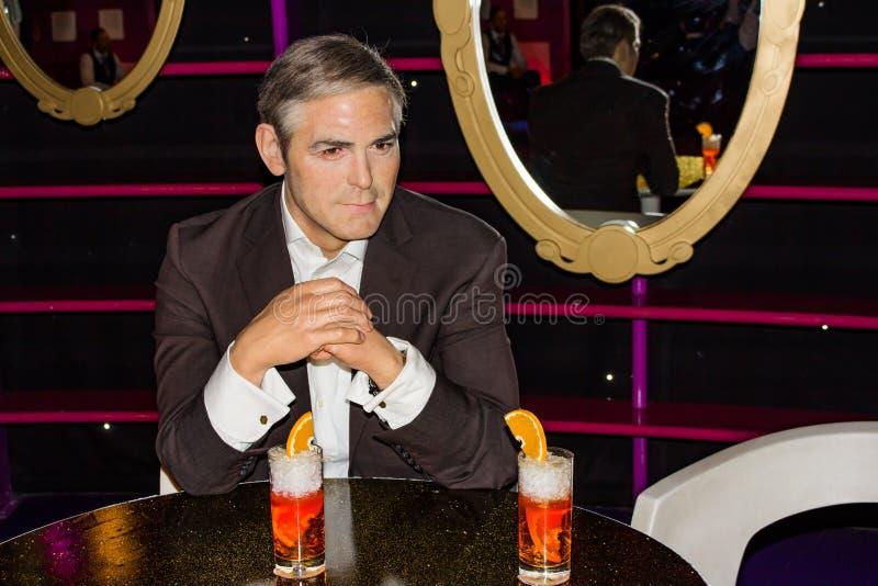 George Clooney wax figure, Madame Tussaud`s Museum Vienna stock photos