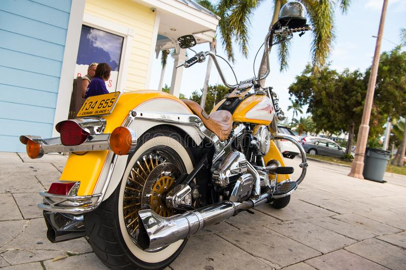 Motorcycle parked at house. motorcycle. travelling on cool motorcycle. Motorcycle club. Wanderlust royalty free stock image