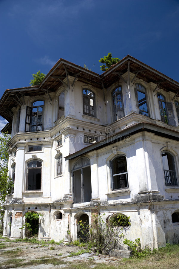 Download George Town Dilapidated Heritage Building Stock Image - Image: 7348427