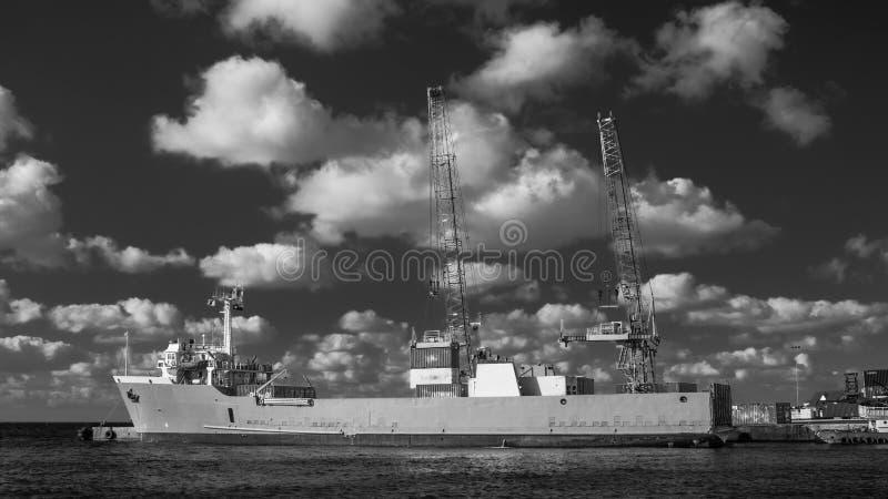 George Town-Freighter fotografia de stock