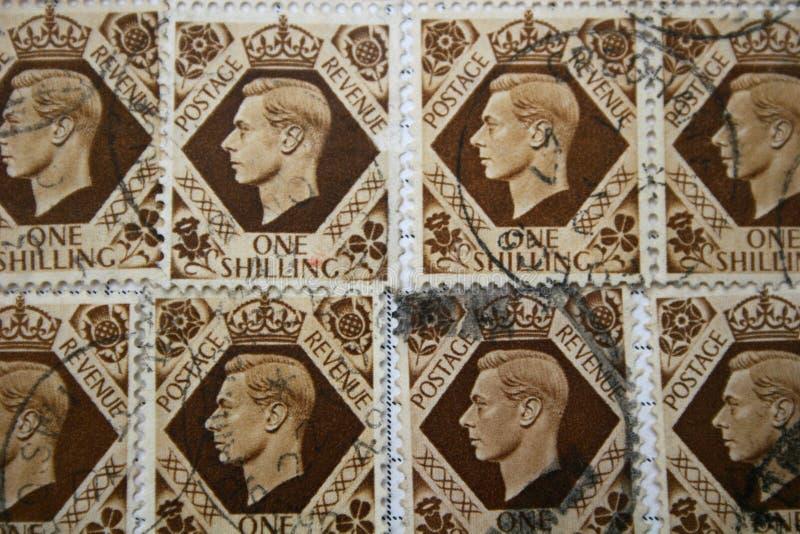 George VI zegels royalty-vrije stock foto