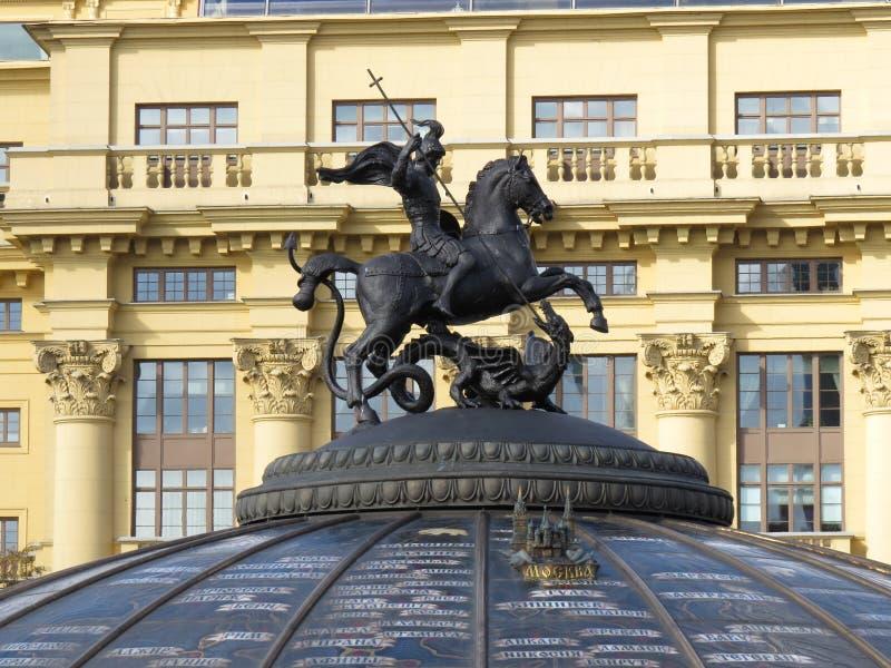 George-victorioso en Moscú foto de archivo