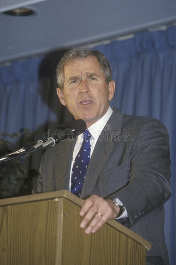 Download George W. Bush editorial stock image. Image of gesture - 26275539