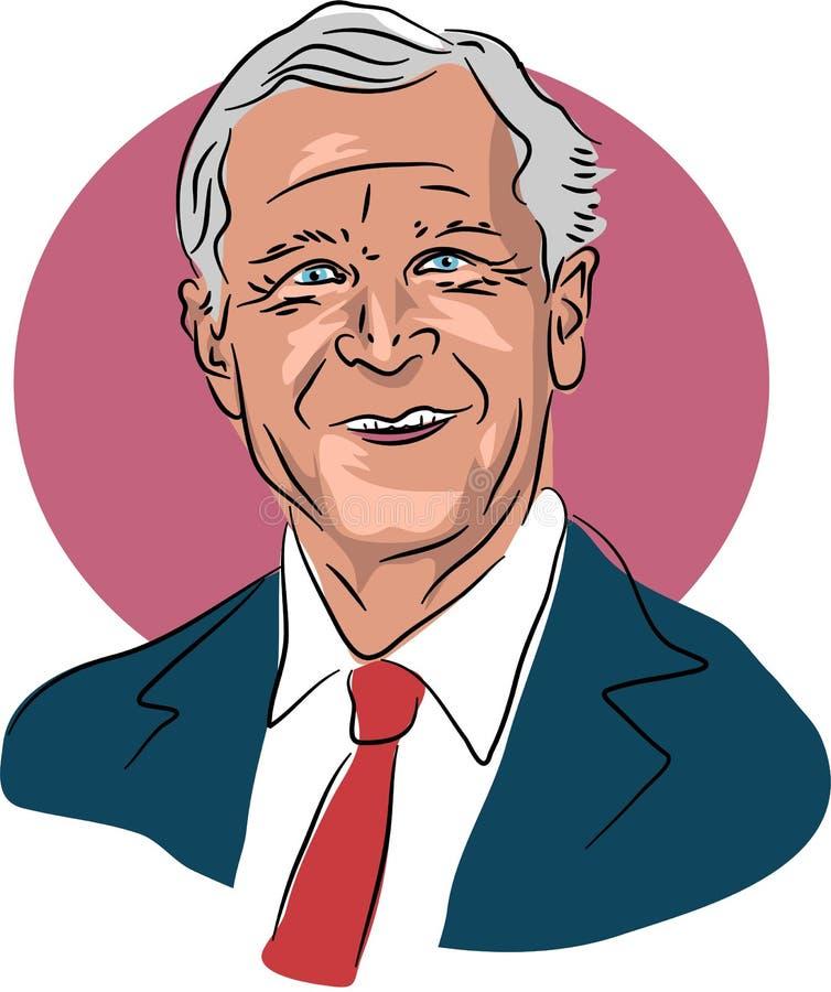 George W Bush stock de ilustración