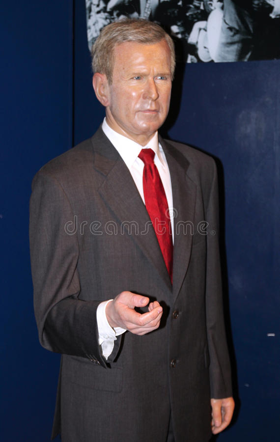 George W. Bush at Madame Tussaud's stock photography