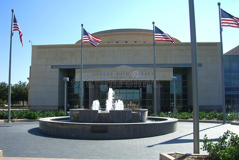 George H. W. Bush Presidential Library. And Museum entrance in College Station, Texas stock image