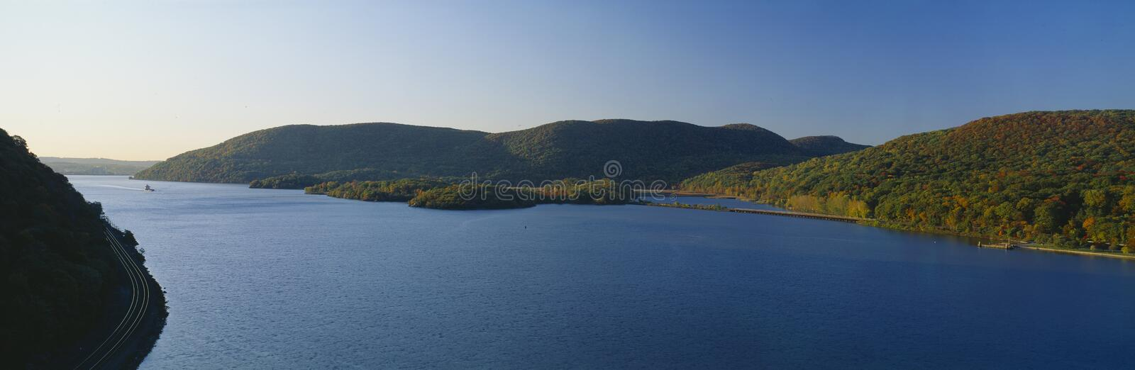 George W. Perkins Memorial Drive in Bear Mountain State Park, Hudson River Valley, New York royalty free stock image